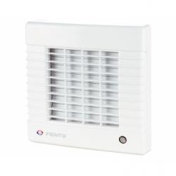 Ventilator diam 100mm cu jaluzele automate, intrerupator  cu fir, timer si senzor de umiditate - Ventilatie casnica ventilatoare axiale de perete