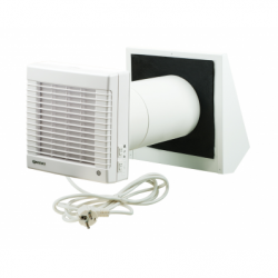 Ventilator cu recuperator de caldura ceramic - Ventilatie casnica ventilatoare axiale de perete