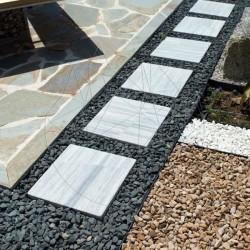 Marmura Kavala Cross Cut Antichizata 40 x 40 x 4.5cm (Pasi japonezi gradina antichizati) - Decor gradina