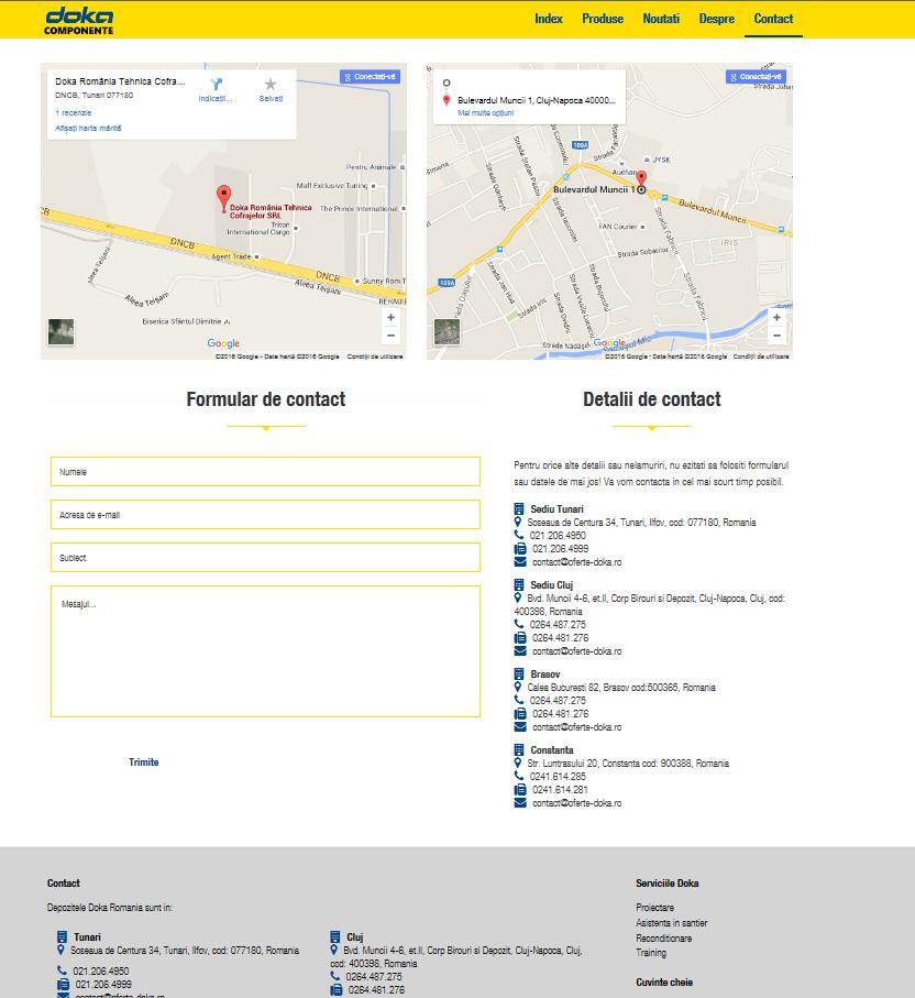 Oferte Doka - Doka Romania @ Online