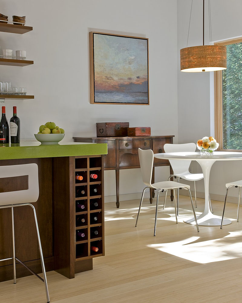 Soluții pentru a depozita sticlele de vin în bucătărie - Soluții pentru a depozita sticlele de vin în bucătărie