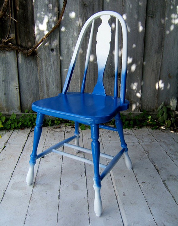 Bricolaj prin tehnica ombre - scaun colorat - Bricolaj prin tehnica ombre - scaun colorat