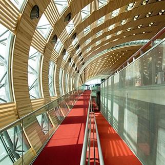 Aeroportul Charles de Gaulle din Paris - Protectia la foc a elementelor din lemn cu sistemele SIKA Pyroplast