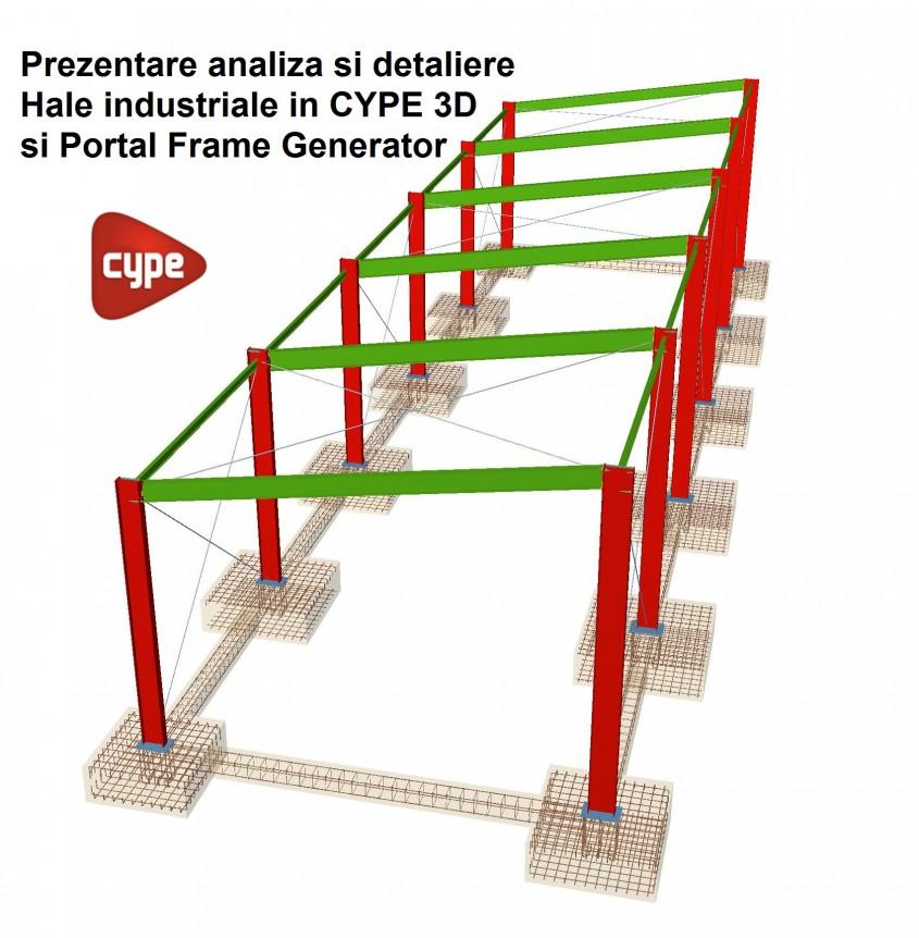 Prezentarea unei hale industriale in CYPE 3D si Portal Frame Generator - Prezentarea unei hale industriale