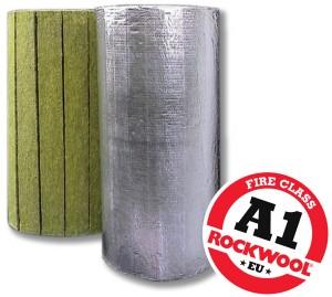 Larock 40 ALS - Saltele din lamele de vata bazaltica caserate cu folie de aluminiu - Izolatii termice din vata bazaltica pentru instalatii