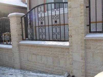 Gard placat cu piatra naturala - Lucrari DECOR LIMESTONE