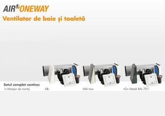 Ventilator de baie si toaleta Air Oneway - Sistemele de ventilare descentralizate