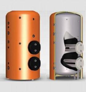 Boiler cu serpentine extractabile tip U de mare putere QS/QT - Boilere