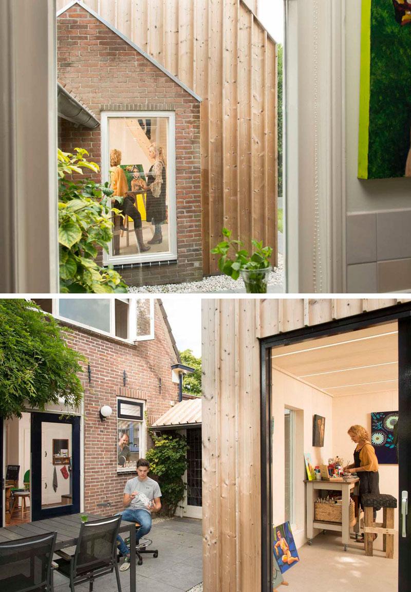 Un atelier de pictura amenajat in curtea din spatele casei - Un atelier de pictură amenajat în curtea din spatele casei
