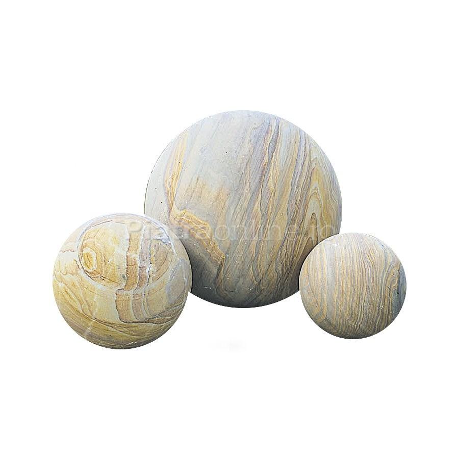Bile decorative Sandstone - Cinci ornamente din piatra naturala pentru gradina
