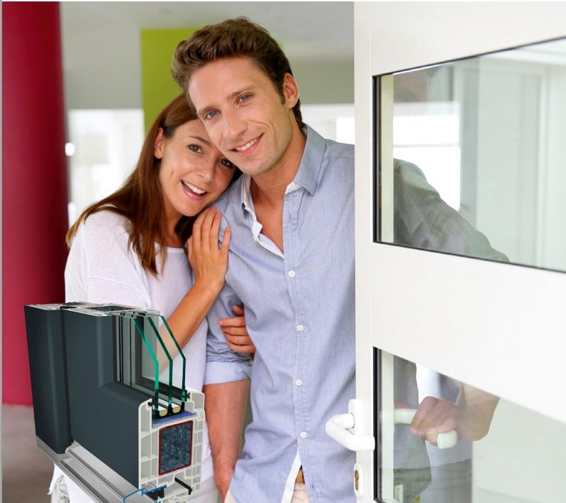 Usa de intrare din PVC cartea de vizita a unei case moderne si elegante - Usa