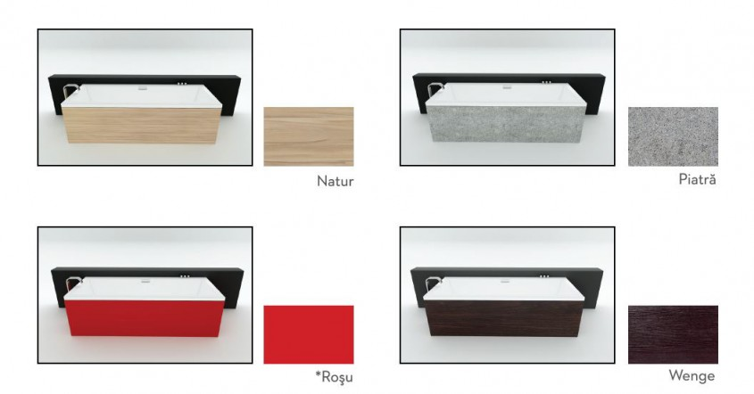 Cazile de baie Fibrex din colectia SENSE - linii moderne curate si elegante - Cazile de