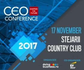 CEO Conference - Shaping the future; Evenimentul anual de referință pentru elitele mediului de afaceri românesc are loc la București, în data de 17 noiembrie 2017 - CEO Conference - Shaping the future; Evenimentul anual de referință pentru elitele mediului de afaceri românesc are loc la București, în data de 17 noiembrie 2017