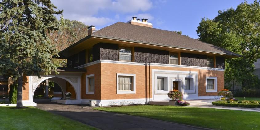 Casa Winslow - 150 de ani de la nașterea unui geniu: Frank Lloyd Wright