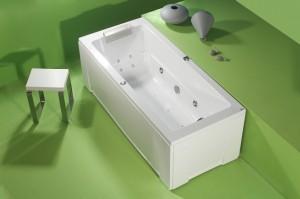 Cada dreapta - ROMA II - Cazi de baie drepte (rectangulare)