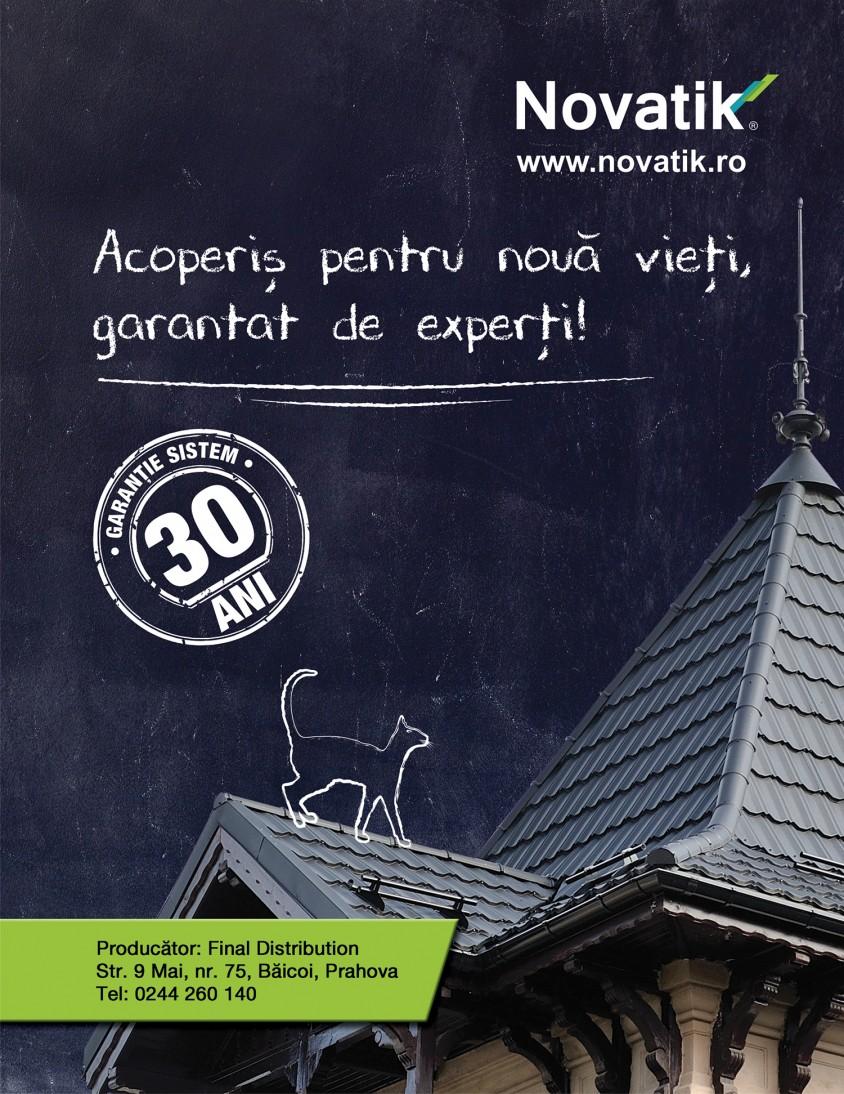 Novatik - Acoperis pentru noua vieti - Final Distribution lider pe piata invelitorilor metalice cu acoperire