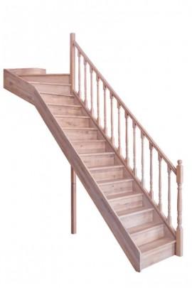 Scara pe structura din lemn Bourgogne - Gama de scari TRADITIONALE