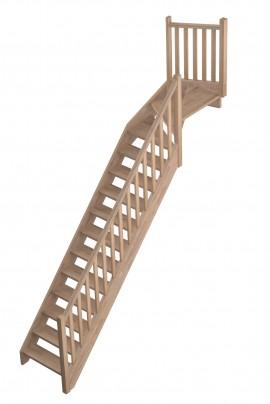 Scara pe structura din lemn Provence - Gama de scari TRADITIONALE
