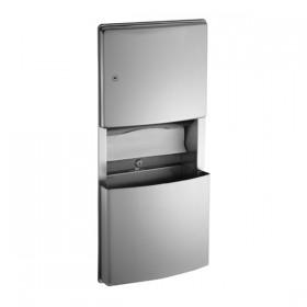 Combi Unit incastrat cu dispenser de servetele si cos de gunoi - 204623 - Accesorii din inox pentru spatii sanitare publice