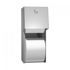 Dispenser de hartie igienica cu rola de rezerva - 0030 - Accesorii din inox pentru spatii sanitare publice