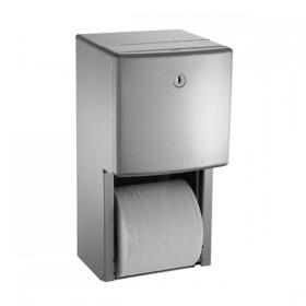 Dispenser de hartie igienica cu rola de rezerva - 20030 - Accesorii din inox pentru spatii sanitare publice