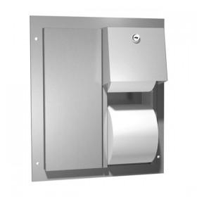 Dispenser de hartie igienica pentru montaj in cabine - 0032 - Accesorii din inox pentru spatii sanitare publice