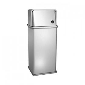 Cos de gunoi Free Standing cu capac - 0810 - Accesorii din inox pentru spatii sanitare publice
