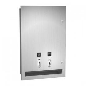 Dozator de servetele umede si tampoane - 0468 - Accesorii din inox pentru spatii sanitare publice