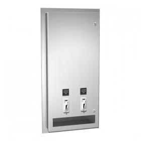 Dozator de servetele umede si tampoane - 0464 - Accesorii din inox pentru spatii sanitare publice