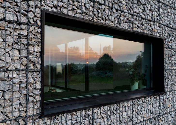 Fatade integral realizate din gabioane, o alegere inedita pentru o casa - Locuinta unifamiliala - exterior