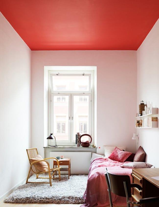 Rosu - 6 culori aprinse, numai bune de incercat daca ai un dormitor mic