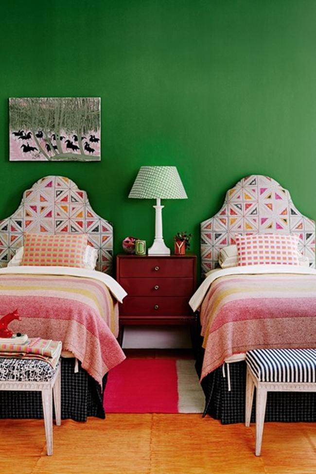 Verde - 6 culori aprinse, numai bune de incercat daca ai un dormitor mic