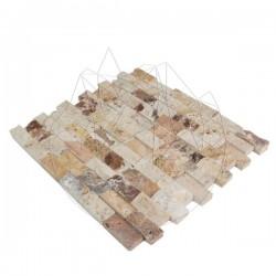 Mozaic Travertin Red Valencia Scapitat 2.3 x 4.8cm - Mozaic piatra naturala