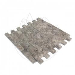Mozaic Marmura Dark Emperador Scapitat 2.3 x 4.8cm - Lichidare Stoc - Mozaic piatra naturala