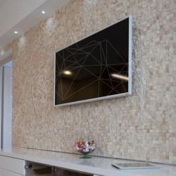 Mozaic Travertin Classic 3D Scapitat 2.5 x 2.5cm - Mozaic piatra naturala