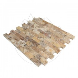 Mozaic Travertin Scabas Scapitat 2.3 x 4.8 cm - Lichidare Stoc - Mozaic piatra naturala