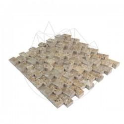 Mozaic Travertin Noce Siding Scapitat 2.5 x 5 cm - Mozaic piatra naturala