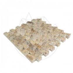 Mozaic Travertin Scabas Scapitat Siding 2.3 x 4.8 cm - Lichidare Stoc - Mozaic piatra naturala