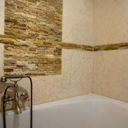 Mozaic Travertin Yellow Scapitat 2.5 x 10cm - Mozaic piatra naturala