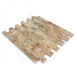 Mozaic Travertin Scabas Scapitat 2.5 x 10 cm - Lichidare Stoc - Mozaic piatra naturala