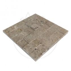 Mozaic Travertin Noce Scapitat 4.8 x 4.8 cm - Lichidare Stoc - Mozaic piatra naturala