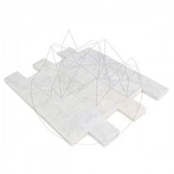 Mozaic Marmura Mugla White Scapitata 5 x 10cm - Mozaic piatra naturala