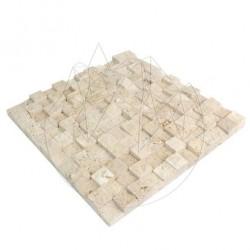 Mozaic Travertin Classic 3D Scapitat 2.3 x 2.3cm - Lichidare Stoc - Mozaic piatra naturala