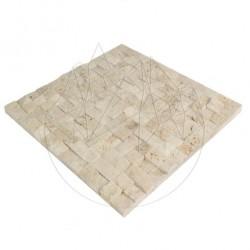 Mozaic Travertin Classic Scapitat 2.3 x 2.3 cm - Lichidare Stoc - Mozaic piatra naturala