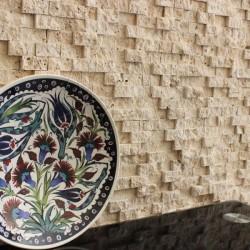 Mozaic Travertin Classic Scapitat 2.5 x 5cm - Mozaic piatra naturala
