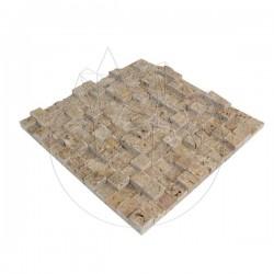 Mozaic Travertin Noce 3D Scapitat 2.5 x 2.5cm - Mozaic piatra naturala