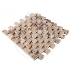 Mozaic Travertin Scabas Siding Scapitat 2.5 x 5 cm - Mozaic piatra naturala