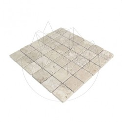 Mozaic Travertin Classic Antichizat 4.8 x 4.8 cm - Mozaic piatra naturala
