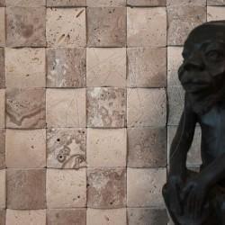 Mozaic Travertin Classic si Noce 3D Pillow Antichizat 5 x 5cm - Mozaic piatra naturala