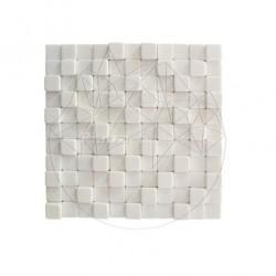 Mozaic Marmura Thassos Antique 3D Antichizat - Mozaic piatra naturala